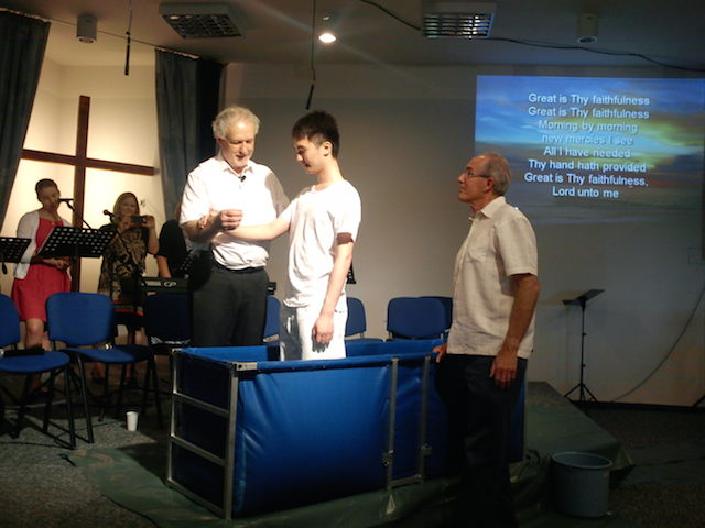 Baptism of volunteer